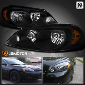 2006 2013 Chevy Impala 06 07 Monte Carlo Replacement Black Headlights Left right