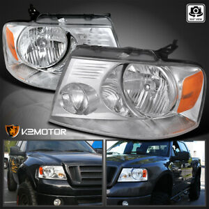 For 2004 2008 Ford F150 2006 2008 Lincoln Mark Lt Clear Diamond Headlights Lh Rh
