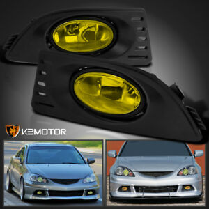 2005 2007 Acura Rsx Jdm Yellow Bumper Driving Fog Lights Lamps Switch Left Right