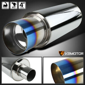 4 Racing Burnt Tip N1 Style Stainless Steel Exhaust Muffler W silencer hp