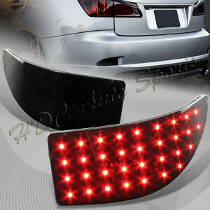 For 2006 2013 Lexus Is250 Is350 Jdm Smoke Len Led Rear Bumper Brake Light Lamps