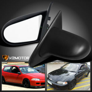 For 92 95 Honda Civic Eg Sport Jdm Spn Power Side Mirrors Black Left right