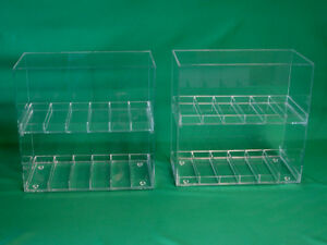 Two 2 Display Cases 1 Slot Size