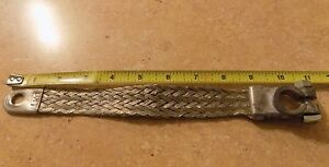 9 Inch 2 Gauge Braided Ground Strap Battery Cable Top Post Terminal Vintage 9