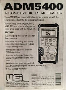 Uei Adm5400 Automotive Digital Multimeter