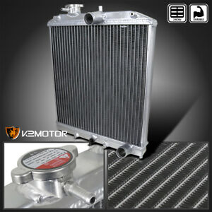 For 1992 2000 Honda Civic Manual Transmission Mt Aluminum Racing Radiator 2 Row
