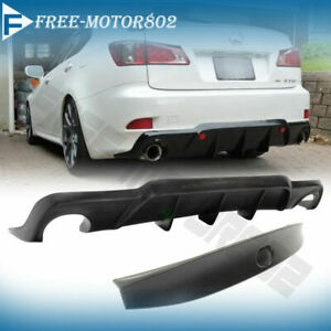Fit 06 12 Lexus Is250 Is350 Pu Dmr Style Rear Diffuser Lip Trunk Wing Spoiler