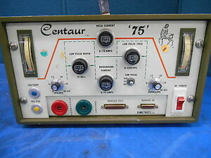 Vintage Liburdi Dimetrics Centaur 75 Weld Current Power Supply Model 7001