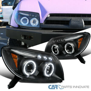 For Toyota 03 05 4runner Black Led Halo Projector Headlights Head Lights Lamps