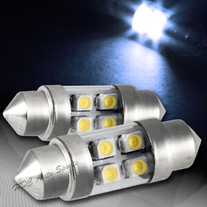 2x 31mm 4 Smd White Led Festoon Dome Map Glove Box Trunk Replacement Light Bulb