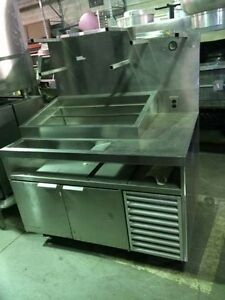 50 Refrigerated Prep Table With Cold Food Well