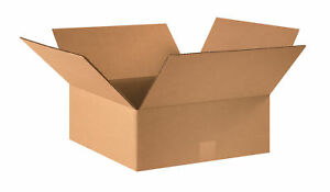 50 16x16x6 Cardboard Shipping Boxes Flat Corrugated Cartons