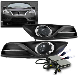 Bumper Driving Smoke Fog Lights Lamps W 10k Hid Wiring Harness For 13 15 Sentra