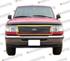 For 1993 1994 1995 1996 1997 Ford Ranger Billet Grille Grill 1pc Cut Out Insert