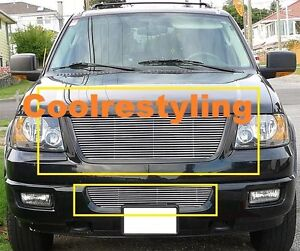 For 2003 2004 2005 2006 Ford Expedition Billet Grille Grill Combo Inserts