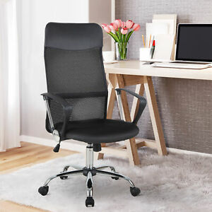 Ergonomic Mesh Office Chair High Back Swivel Computer Seat Pc Desk Black