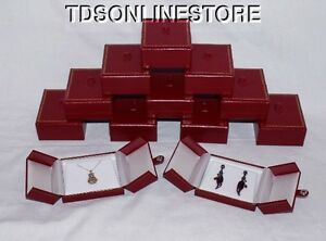 Very Elegant Double Door Pendant earring Gift Boxes 12 Pc Red