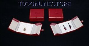 Very Elegant Double Door Pendant earring Gift Boxes 4 Qty Red