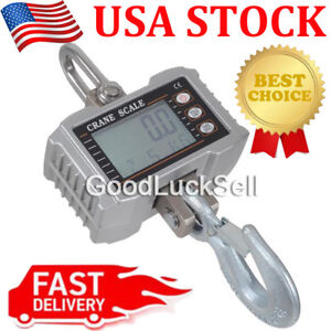 1000kg 1ton 2000 Lbs Digital Crane Scale Heavy Duty Hanging Scale Ocs s Silver