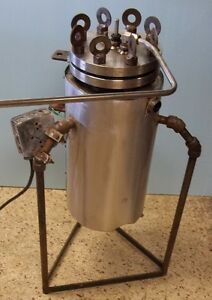 3000 Ml 316l Stainless Steel Heat Jacketed Reactor With Stirrer No Motor