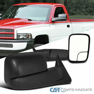 Dodge 94 01 Ram 1500 94 02 Ram 2500 3500 Manual Flip Up Trailer Towing Mirrors