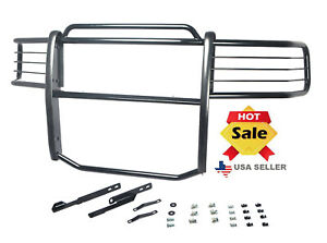 Fits 2007 2013 Chevy Chevrolet Silverado 1500 Bumper Brush Grill Guard In Black
