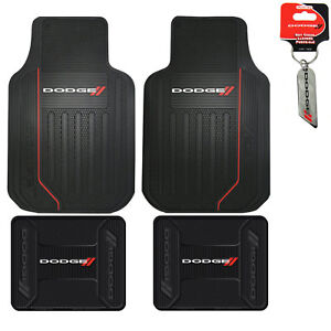 New Dodge Elite Series Car Truck Front Rear All Weather Rubber Floor Mats Set