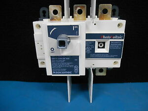 Socomec Sirco 27dc3021 250 Amp 3 Pole Load Break Switch Pv Disconnect Ul98 Dc98b