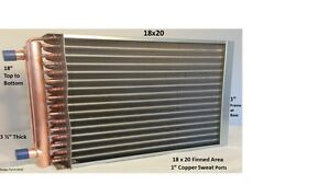 18x20 Water To Air Heat Exchanger 1 Copper Ports W Ez Install Front Flange