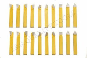 20pc 1 2 Carbide Tip Tipped Cutter Tool Bit Cutting Set For Metal Lathe Tooling