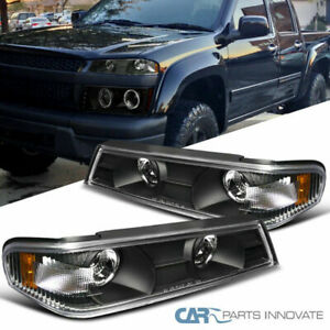 04 12 Colorado Canyon Black Clear Corner Lights Turn Signal Lamps Left Right