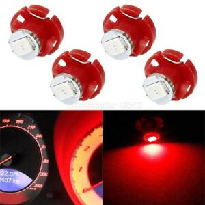 4x Red T4 2 T4 Neo Wedge Led Bulb Cluster Instrument Dash Climate Base Light