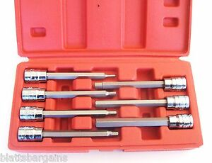 7pc Ate Pro 3 8 Drive Extra Long Hex Allen Bit Socket Set 88215 Metric