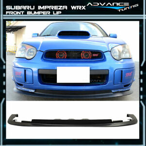 Fit For 04 05 Subaru Impreza Wrx Sti Pp V Limited Front Bumper Lip Spoiler