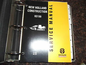 New Holland Ec130 Excavator Service Shop Repair Manual