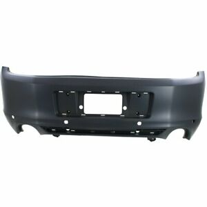 Rear Bumper Cover For 2013 2014 Ford Mustang Base gt Models W Obj Sensor Holes