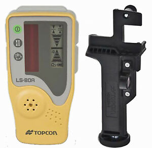 Topcon Ls 80a Rotating Laser Level Detector With Rod Mount