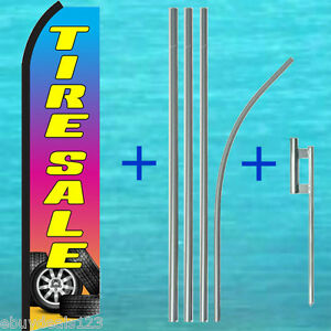Tire Sale Swooper Flag 15 Tall Pole Mount Kit Flutter Feather Banner Sign