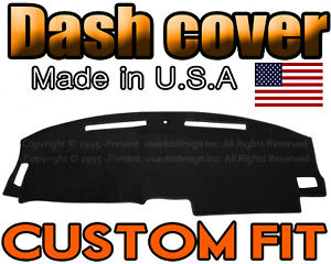 Fits 2008 2014 Dodge Challenger Dash Cover Mat Dashboard Pad Black