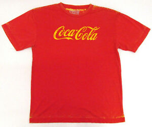 Vintage Coca-Cola T-shirt Distressed Acid Wash Coke Pop Art Soda Adult XL New