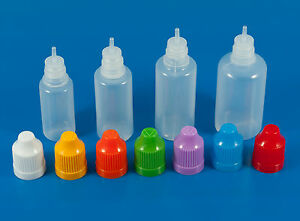 10ml 30ml Empty Natural Plastic Thin Tip Dropper Bottles Child Safety Cap