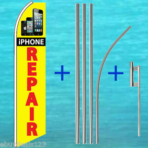 Iphone Repair Flutter Flag 15 Pole Mount Kit Feather Swooper Banner Tall Sign