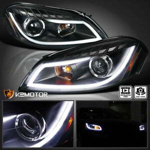 2006 2013 Chevy Impala Black Led Bar Projector Headlights Signal Lamps
