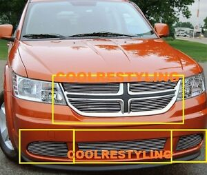 For 11 12 Dodge Journey Le Billet Grille Insert Combo 4pc Upper And 3pcs Bumper