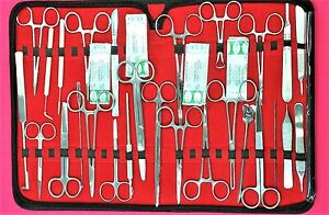 107 Pc Us Military Field Minor Surgery Surgical Veterinary Dental Instrument Kit