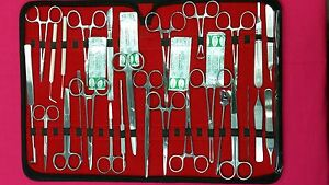 137 Pc Us Military Field Minorsurgery Surgical Veterinary Dental Instruments Kit