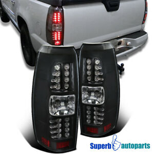 2007 2012 Chevy Avalanche Tail Lights Led Brake Lamps Black Clear