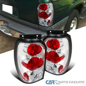 For 98 01 Ford Explorer Mercury Mountaineer Clear Tail Lights Rear Brake Lamps