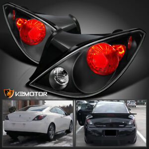 2006 2009 Pontiac G6 2 Door Coupe Replacement Black Tail Lights Pair