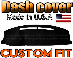 Fits 1996 1998 Jeep Grand Cherokee Dash Cover Mat Dashboard Pad Black
